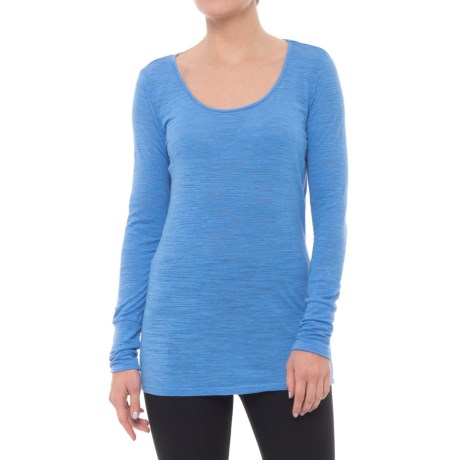 Nux Avery Drape-Back Shirt - Long Sleeve (For Women) in Provence Blue