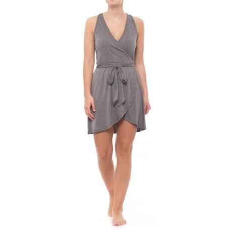 Nux Caroline Wrap Dress - Racerback, Sleeveless (For Women) in Heather Gray