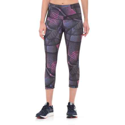 Nux Madrid High Waist Capris (For Women) in Geo/Black - Closeouts