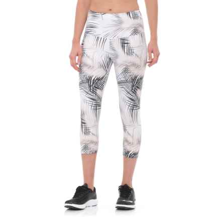 Nux Madrid High Waist Capris (For Women) in White/Gold - Closeouts