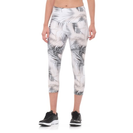 Nux Madrid High Waist Capris (For Women) in White/Gold