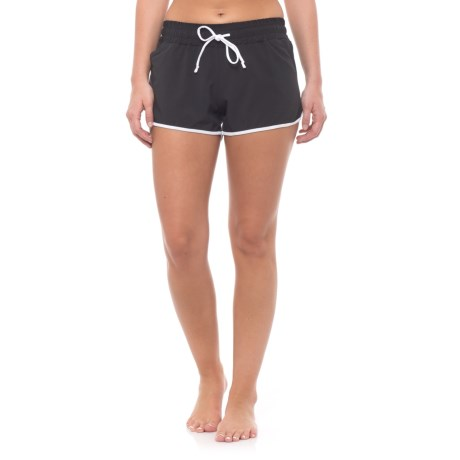 Nux Race Shorts - Built-In Briefs (For Women) in Black/White