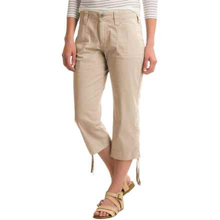NYDJ Abbie Crop Pants (For Women) in Soft Taupe - Closeouts
