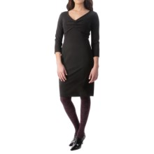 NYDJ Alana Stretch Matte Jersey Dress - 3/4 Sleeve (For Women) in Black - Closeouts