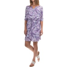 NYDJ Alexa Dress with Removable Shapewear Lining - 3/4 Sleeve (For Women) in Sashiko Lotus Flower Traditions - Closeouts