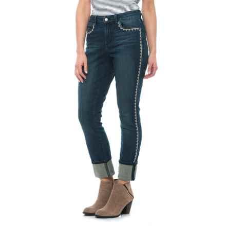 NYDJ Alina Cuffed Ankle Jeans (For Women) in Oak Hill - Closeouts