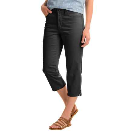 NYDJ Ariel Crop Pants (For Women) in Black - Closeouts