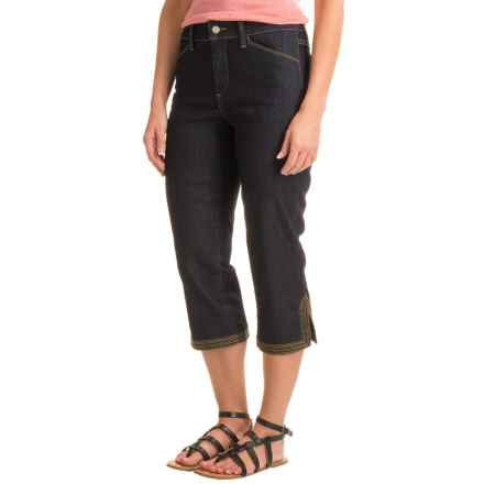 NYDJ Ariel Crop Pants (For Women) in Dark Enzyme Wash Light Denim - Closeouts