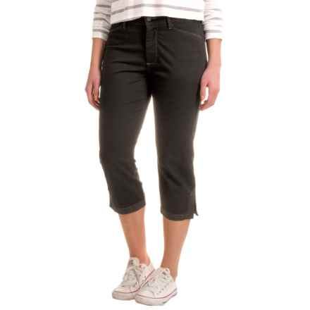 NYDJ Ariel Crop Pants with Contrast Stitching (For Women) in Black Bull Denim - Closeouts