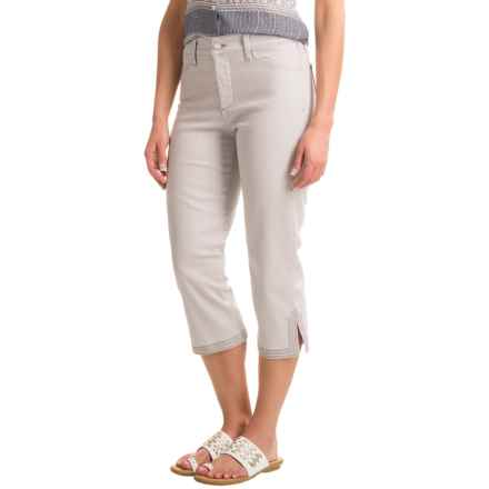 NYDJ Ariel Crop Pants with Contrast Stitching (For Women) in Pearl Grey Bull Denim - Closeouts
