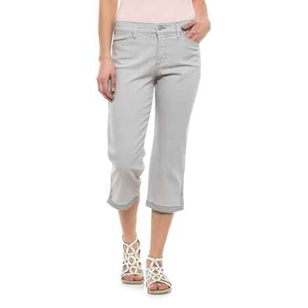 NYDJ Ariel Crop Pants with Contrast Stitching (For Women) in Pearl Grey - Closeouts