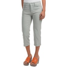 NYDJ Ariel Embellished Crop Jeans (For Women) in Moonstone Grey - Closeouts