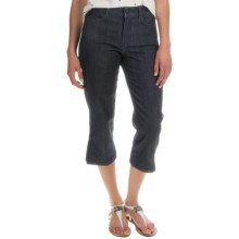 NYDJ Bella Crop Pants (For Women) in Dark Enzyme Wash - Overstock