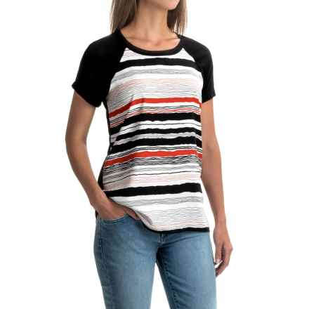 NYDJ Bonfire Striped Shirt - Short Sleeve (For Women) in Multi - Closeouts