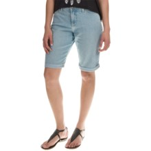NYDJ Briella Roll Cuff Denim Shorts - Lightweight (For Women) in Vernon - Overstock