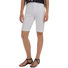 NYDJ Briella Roll Cuff Shorts (For Women) in Optic White - Overstock