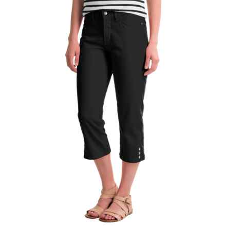 NYDJ Bull Denim Ariel Crop Pants (For Women) in Black - Closeouts