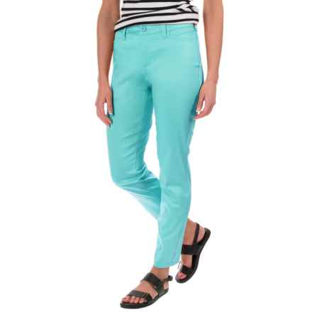 NYDJ Clarissa Solid Ankle Pants (For Women) in Aqua Splash - Closeouts