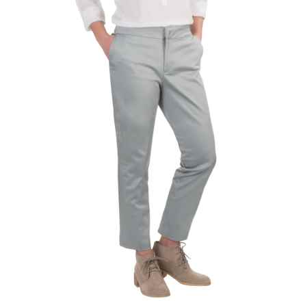 NYDJ Corynna Cotton Sateen Ankle Pants - Slim Fit  (For Women) in Moonstone Grey - Overstock