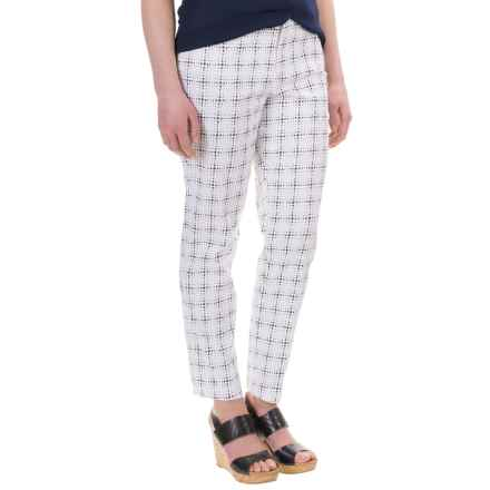 NYDJ Corynna Cotton Sateen Ankle Pants - Slim Fit  (For Women) in Polka Dot Grid - Overstock