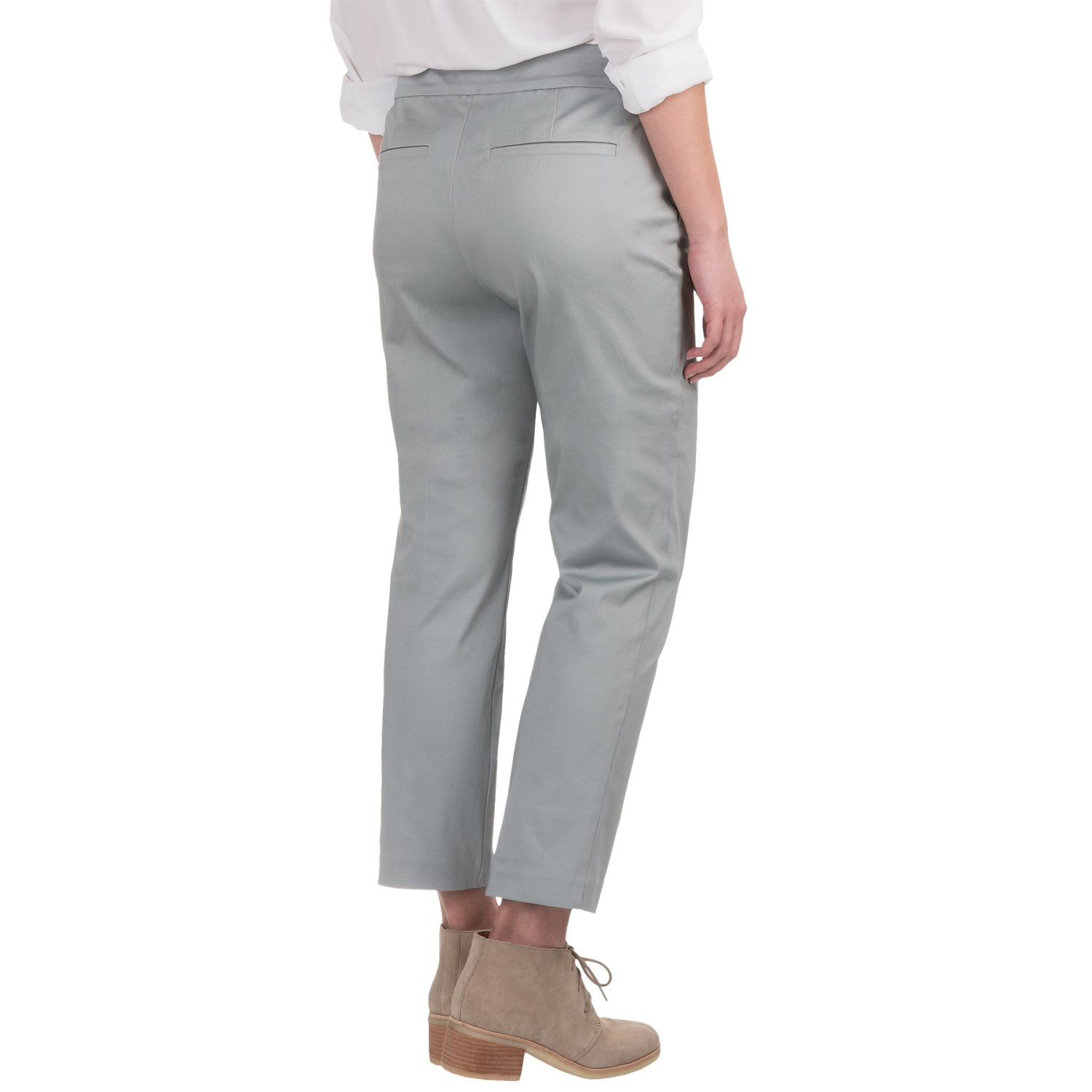 Model Lafayette 148 New York Twill Ankle Pants (For Women)