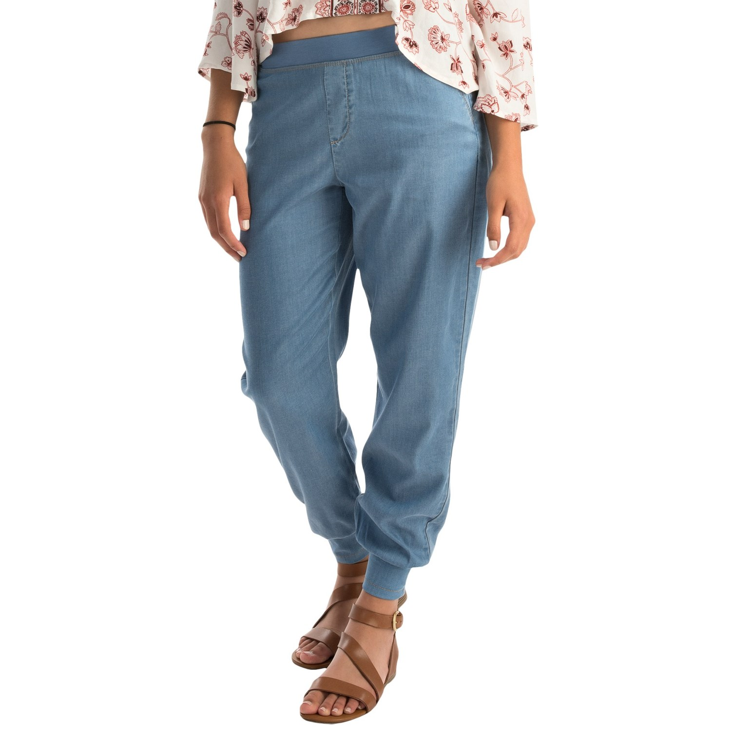 Nydj darla chambray track pants for women for Chambray jeans