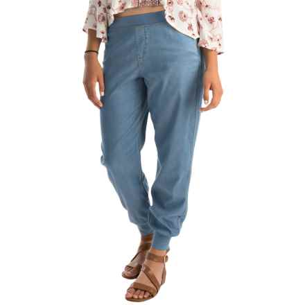 NYDJ Darla Chambray Track Pants (For Women) in Norway Wash - Overstock