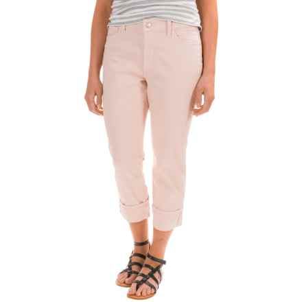 NYDJ Dayla Wide Cuff Capris (For Women) in Rose Water Blush - Closeouts