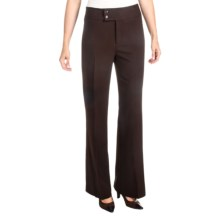 NYDJ Double Button Trouser Pants (For Women) in Chocolate - Closeouts