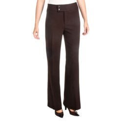 NYDJ Double Button Trouser Pants (For Women) in Brown