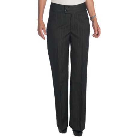 NYDJ Double Button Trouser Pants (For Women) in Grey