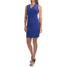 NYDJ Draped Jersey-Knit Dress with Built-In Shapewear Lining - Sleeveless (For Women) in Blue Sapphire - Closeouts