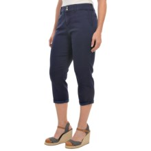 NYDJ Izzie Slick Twill Capris (For Women) in Oxford Blue - Closeouts
