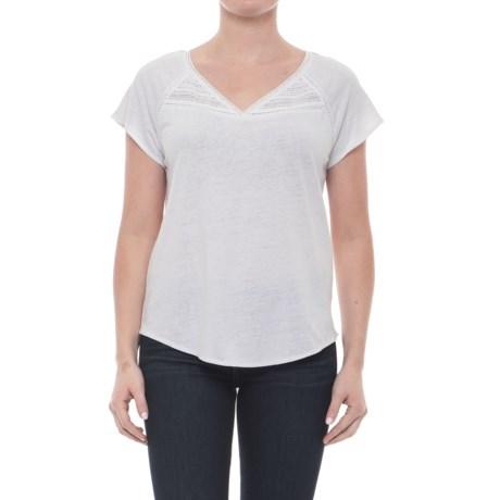 NYDJ Jersey Knit Lace Trim Shirt - Short Sleeve (For Women)