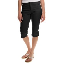 NYDJ Kaelin Skimmer Shorts (For Women) in Black - Overstock