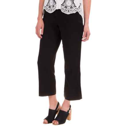 NYDJ Kylie Mini Flare Capris (For Women) in Black - Closeouts