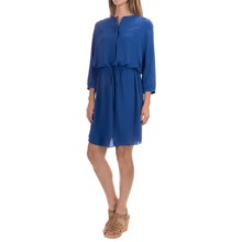 NYDJ Lauren Dress with Removable Shapewear Lining - 3/4 Sleeve (For Women) in Azul - Closeouts