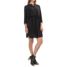 NYDJ Lauren Dress with Removable Shapewear Lining - 3/4 Sleeve (For Women) in Black - Closeouts