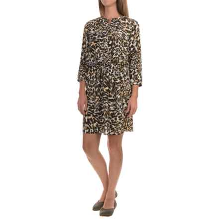 NYDJ Lauren Dress with Removable Shapewear Lining - 3/4 Sleeve (For Women) in Cheetah Vanilla - Closeouts