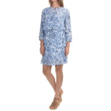 NYDJ Lauren Dress with Removable Shapewear Lining - 3/4 Sleeve (For Women) in Fanciful Floral Sketch - Closeouts