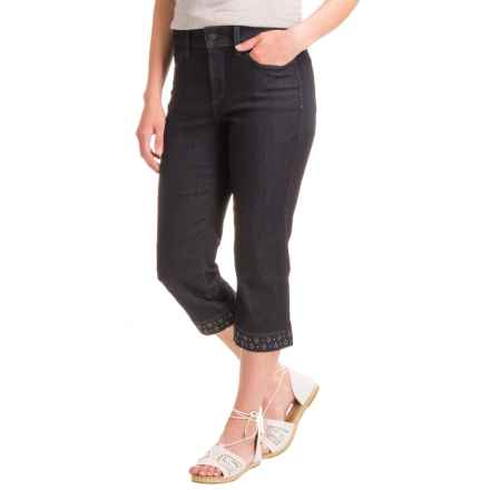 NYDJ Lightweight Ariel Crop Pants (For Women) in Dark Enzyme Wash - Closeouts