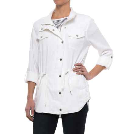 NYDJ Linen Anorak Jacket (For Women) in Optic White - Closeouts