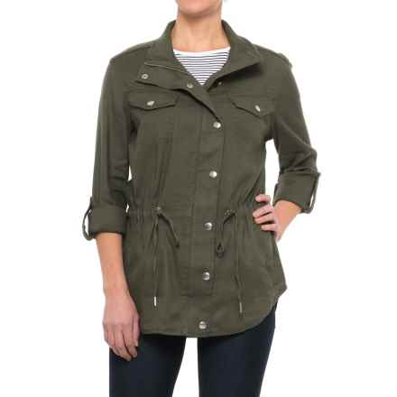 NYDJ Linen Anorak Jacket (For Women) in Topiary - Closeouts