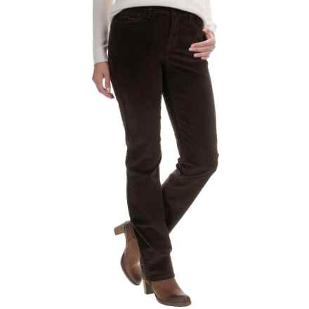 NYDJ Marilyn Corduroy Pants - Straight Leg (For Women) in Molasses - Overstock
