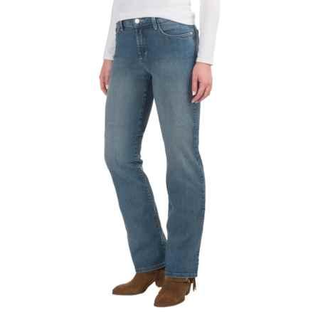 NYDJ Marilyn Lightweight Straight-Leg Jeans - Rhinestone Pockets (For Women) in Palmdale Wash - Overstock