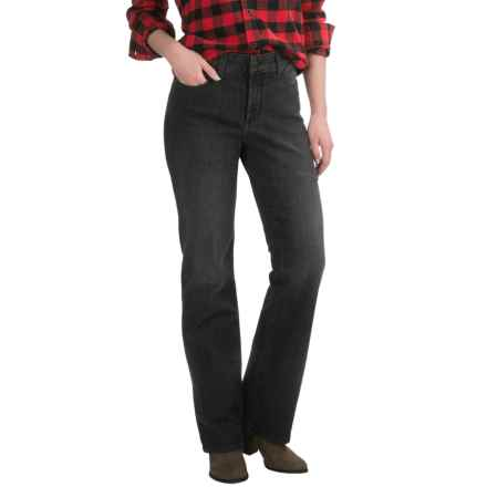 NYDJ Marilyn Premium Lightweight Jeans - Straight Leg, Colored (For Women) in Onyx - Closeouts