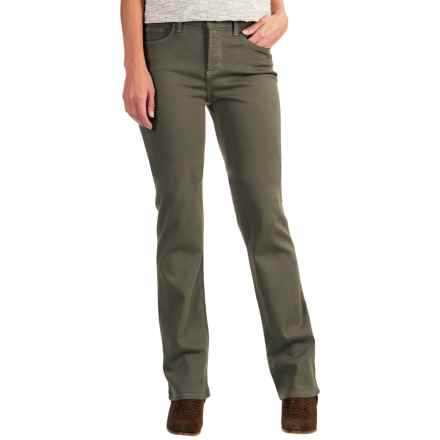 NYDJ Marilyn Straight Twill Pants (For Women) in Topiary - Closeouts