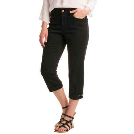 NYDJ Novelty Clasp Crop Pants (For Women) in Black - Closeouts