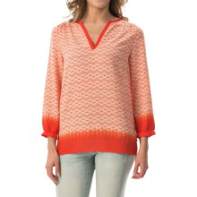 NYDJ Printed Tunic Shirt - Long Sleeve (For Women) in Tangerine - Closeouts
