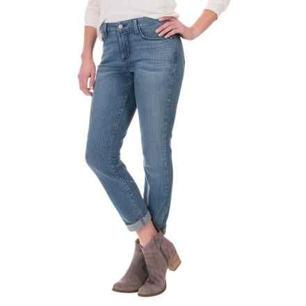 NYDJ Rachel Cuffed Striped Ankle Jeans (For Women) in Carrollton - Overstock